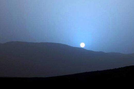 ببینید | تصویری جذاب و دیدنی از غروب آفتاب در مریخ