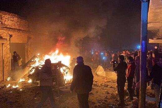 ببینید | انفجار بمب بزرگ در مرز سوریه و ترکیه