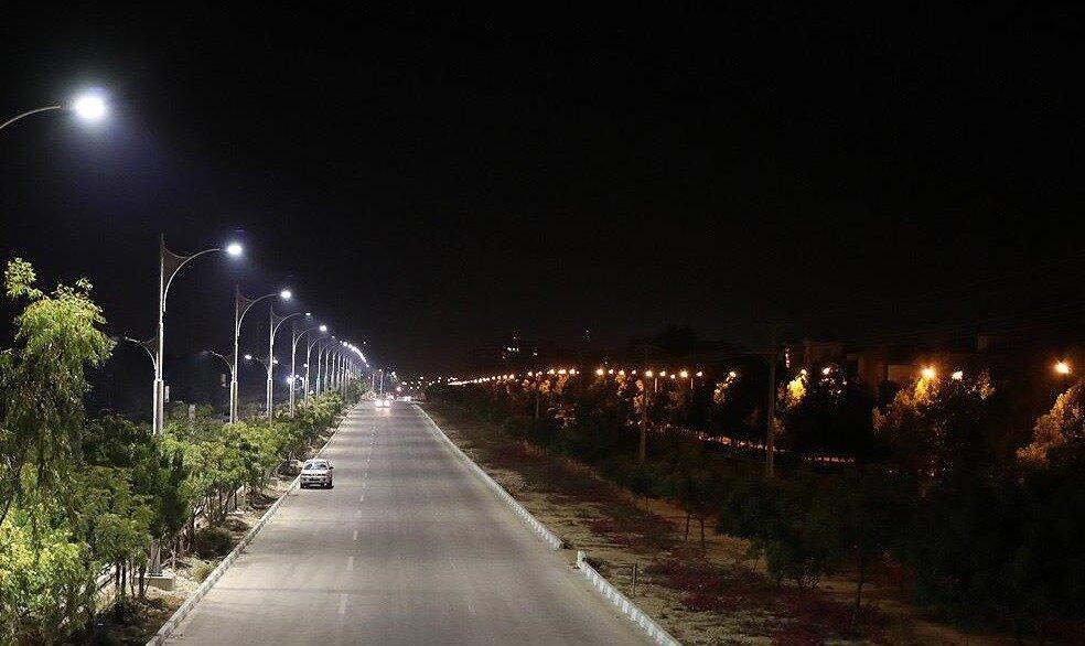 پوشش روشنایی ۳۴۳ هزار مترمربع از سواحل و معابر اصلی جزیره کیش