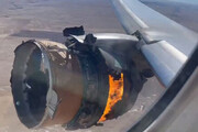 ببینید | لحظهای ترسناک از انفجار موتور هواپیمای مسافربری آمریکایی