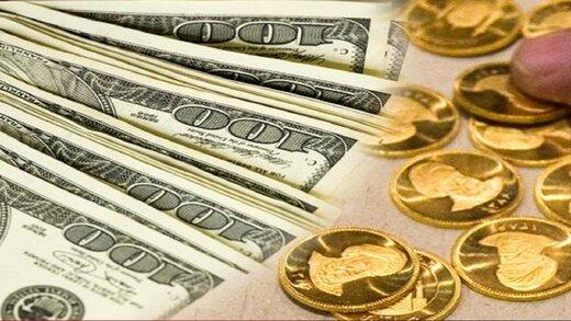 افت بهای سکه و دلار در بازار