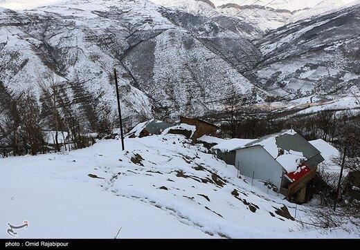 بارش برف در ارتفاعات گیلان