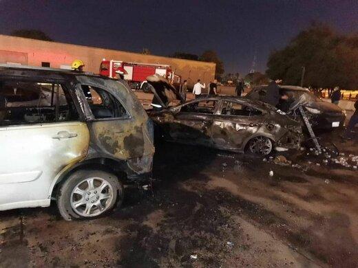 تصاویر از حمله راکتی به منطقه سبز عراق حمله راکتی