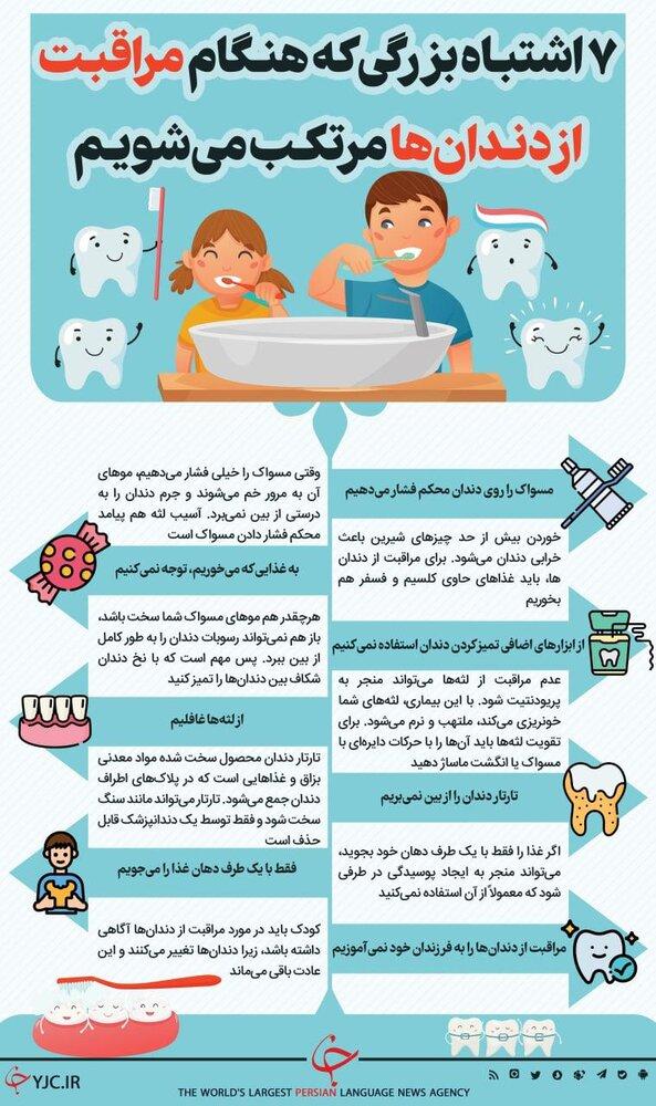 ببینید | ۷ اشتباه بزرگی که هنگام مراقبت از دندانها مرتکب میشویم