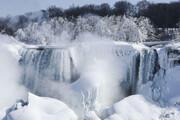 ببینید | آبشار بزرگ نیاگارا از سرما یخ زد