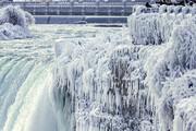ببینید | تصاویر حیرتانگیز یخ زدن بخشی از آبشار نیاگارا