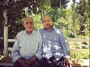 عکس دو نفره قالیباف و پدرش