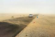 ببینید | طوفان شن درجاده شهداد کرمان