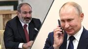 همزمان با تحولات ارمنستان پوتین با پاشینیان تماس گرفت
