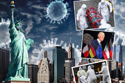 اینفوگرافیک | خطر بیخ گوش جهان؛ همه چیز درباره کرونای نیویورکی