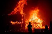 ببینید | تصاویری هولناک از آتشسوزی گسترده در کالیفرنیای آمریکا