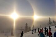 ببینید | اتفاقی شگفتانگیز آسمان سوئد/ حضور 4 خورشید در آسمان