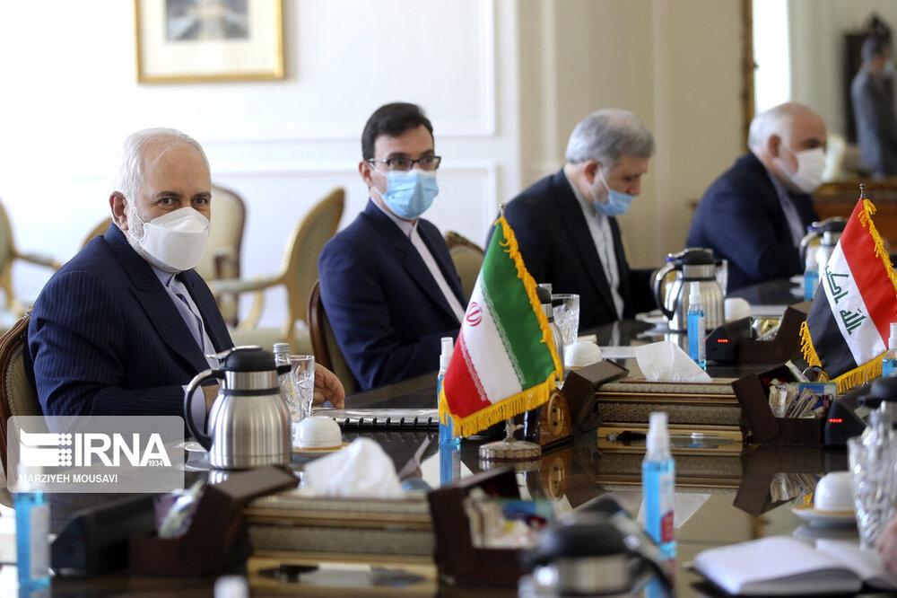 ظريف : الهجمات والحوادث الاخيرة فی العراق مشبوهة