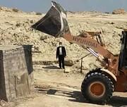 ۷ قطعه زمین از اراضی خالصه دولتی مجموعا به مساحت ۷۹.۶ هزارمترمربع در رمچاه قشم رفع تصرف شد