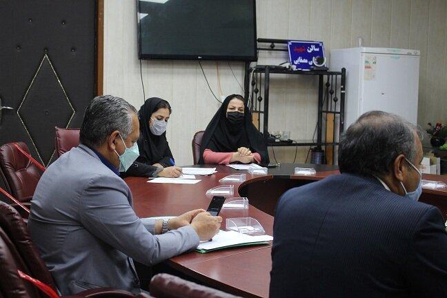 نشست مشترک مدیرکل بهزیستی استان با مدیرکل بیمه سلامت در خصوص ارائه خدمات توانبخشی به مددجویان سازمان بهزیستی