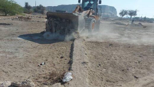 رفع تصرف ۴.۲ هزارمترمربع اراضی خالصه دولتی به ارزش ۲۳.۴میلیارد ریال در بندرگاه شهر درگهان