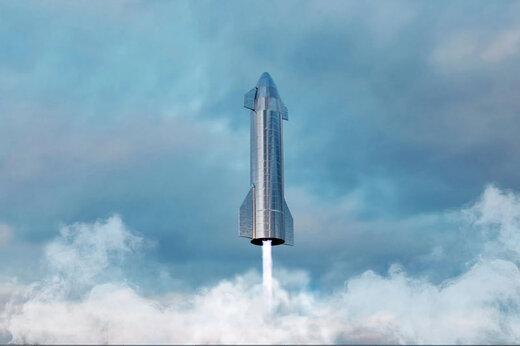 ببینید | پرواز استارشیپ نسخه SN10 تا ارتفاع 10 کیلومتری