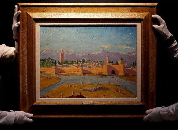 آنجلینا جولی، تابلو نقاشی چرچیل را هفت میلیون پوند فروخت