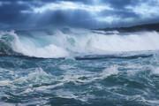 ببینید | تصاویر طغیان دریا پس از زلزله