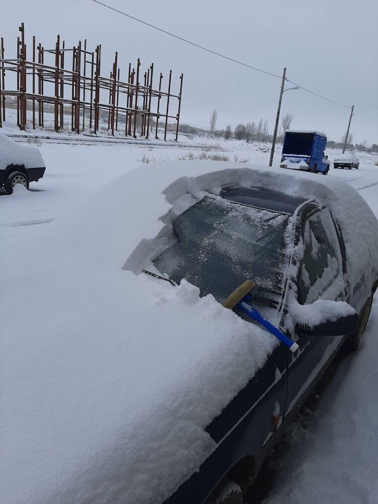 عکس | میزان بارش برف در آذربایجان شرقی