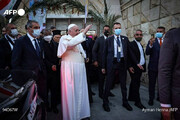 ببینید | تصویری از پاپ فرانسیس در منزل آیتالله سیستانی