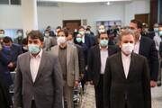 گزارش تصویری افتتاح کتابخانه مرکزی یزد با حضور اسحاق جهانگیری