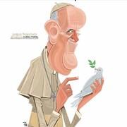 ببینید: پاپ فرانسیس با کبوتر سفید!