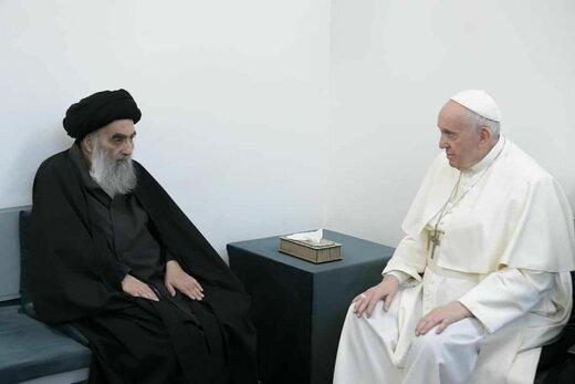 بیانیه دفتر آیتالله سیستانی از نتایج دیدار با پاپ فرانسیس