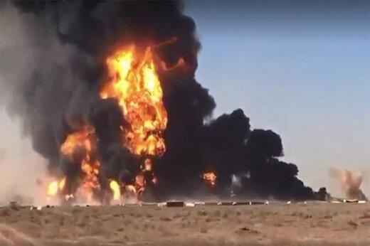 آتشسوزی فضای سبز بزرگراه شهید همت در لحظه تحویل سال