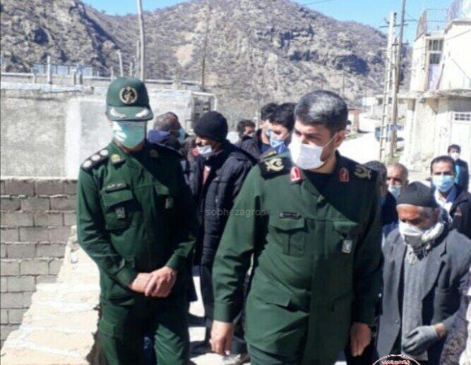 """بازدید سردار """"خرم دل"""" از روستای زلزله زده کوخدان سی سخت+تصاویر"""