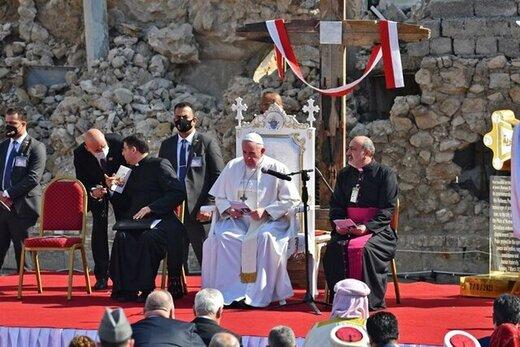 برگزاری مراسم عشای ربانی در اربیل با حضور پاپ/عکس