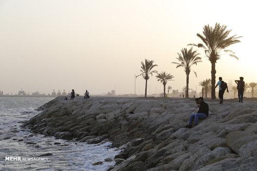 گرد و خاک در مناطق ساحلی بندرعباس