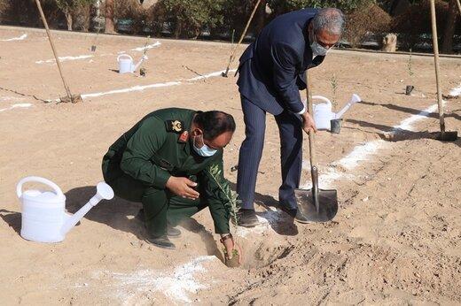 بوستان شهید گمنام در یزد افتتاح شد
