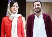 عکس | ترانه علیدوستی و نوید محمدزاده در پشت صحنه فیلم «تفریق»