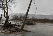 خسارت میلیاردی وزش باد در شهرستان کوهرنگ