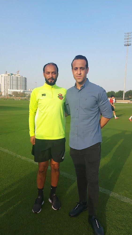 علی کریمی در باشگاه شباب الاهلی دبی/عکس