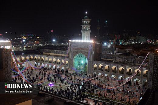 جشن عید مبعث و آیین نامگذاری صحن پبامبر اعظم (ص) در حرم مطهر رضوی