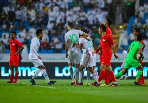 فوتبال در عربستان با تماشاگر!