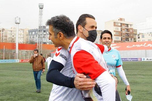 حمله علی کریمی به عزیزی خادم/عکس