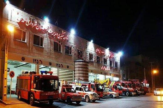 آماده باش آتش نشانان شهر همدان در آخرین چهارشنبه سال