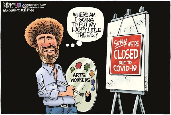 بالاخره باب راس این درختهای کوچولو و خوشحال رو کجا بذاره؟!