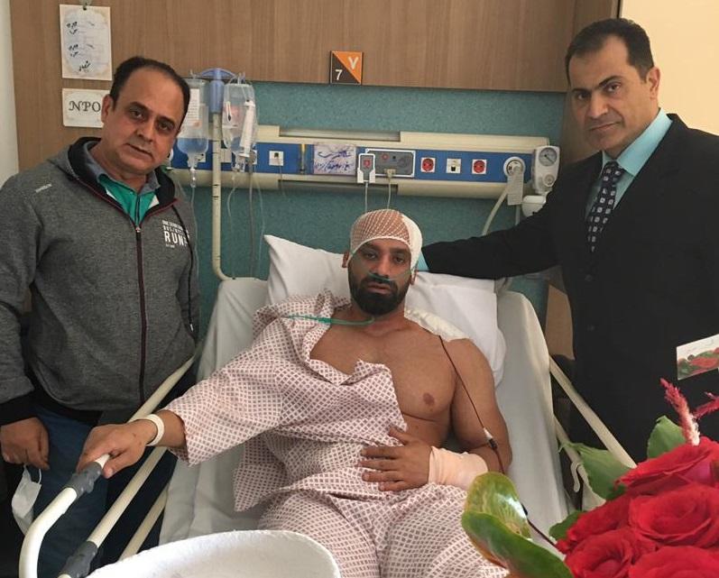حادثه خطرناک برای قهرمان ایرانی/عکس