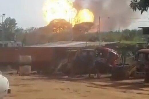 ببینید | انفجار تروریستی در خط لوله انتقال گاز ونزوئلا