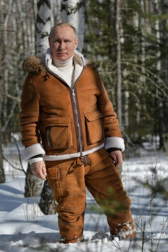 خوشگذرانی زمستانی پوتین در سیبری