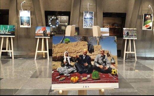 عکسِ سفرههای هفتسین مردم در برج آزادی