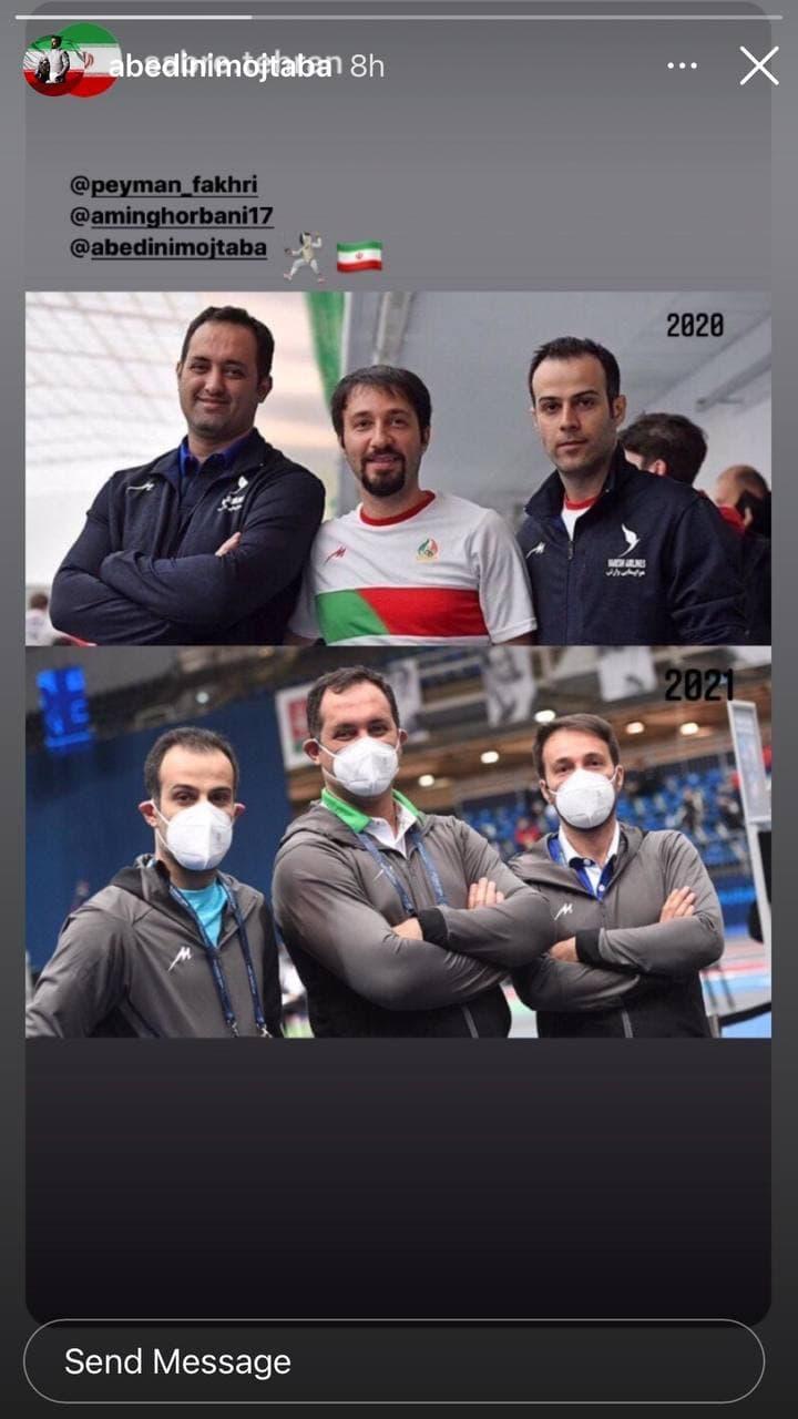 شمشیربازان ایران چشم انتظار مدال المپیک/عکس