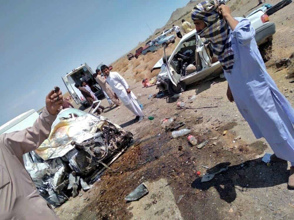 ببینید | نخستین عکس از تصادف مرگبار ظهر امروز زاهدان