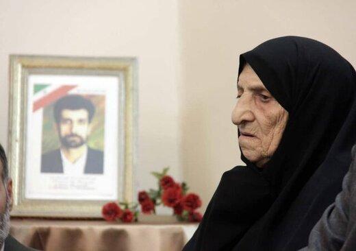 مادر شهید محمود صارمی، درگذشت