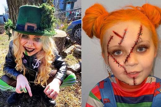 ببینید | دختربچه 7 سالهای که عاشق فیلمهای ترسناک است!