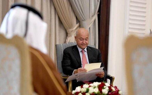 تسلیم نامه امیر قطر به رییس جمهوری عراق